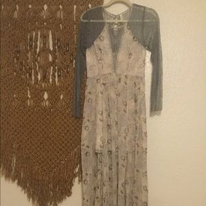 Free People Sheer maxi dress